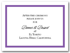 Reception Card Purple Border #5
