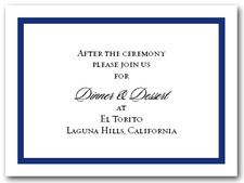 Reception Card Navy Border #5