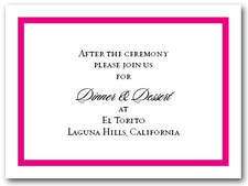 Reception Card Hot Pink Border #5
