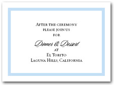 Reception Card Sky Blue Border #5