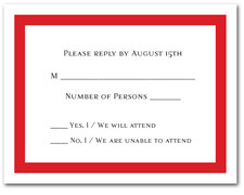 Red Border RSVP Cards #5