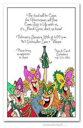 Mardi Gras Party Invitations, Mardi Gras Invitations