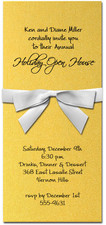 Shimmery Gold Invitation & White