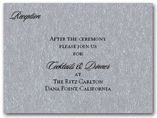 Shimmery Silver Info Cards