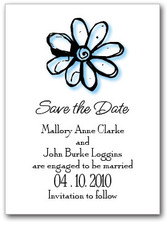 Blue Daisy Save the Date