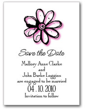 Pink Daisy Save the Date