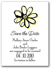 Yellow Daisy Save the Date