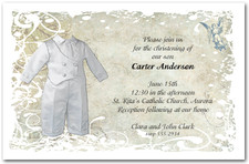 Satin Suit Boy's Christening