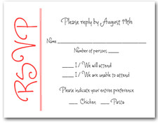 Scarlet on White RSVP Cards #6
