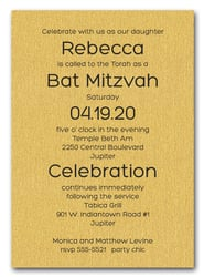 Shimmery Gold Bold Bar Mitzvah