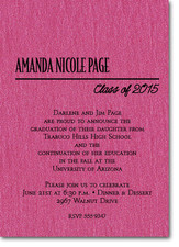 Shimmery Hot Pink Classic Graduation