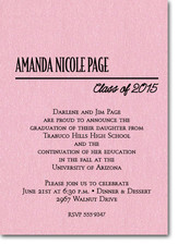 Shimmery Pink Classic Graduation