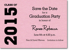 Graduation Save the Date Pink