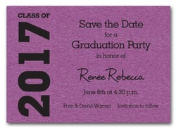 Graduation Save the Date Purple