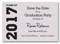 Graduation Save the Date Quartz
