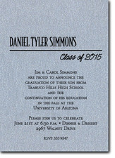 Shimmery Silver Classic Graduation