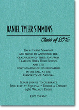 Shimmery Teal Classic Graduation