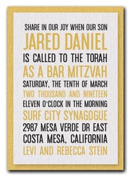 Shimmery White & Gold Bar Mitzvah