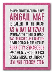Shimmery White & Hot Pink Bat Mitzvah