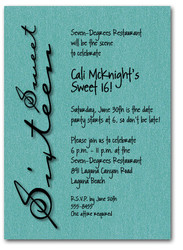 Shimmery Teal Sweet Sixteen
