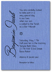 Shimmery Blue Bar Mitzvah