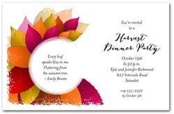 Fall Party Invitations, Autumn Party Invitations
