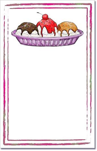 ice cream sundae party invitations