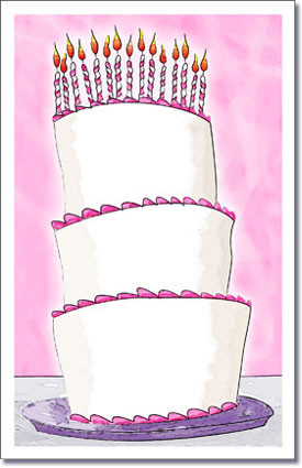 Tall Cake Pink