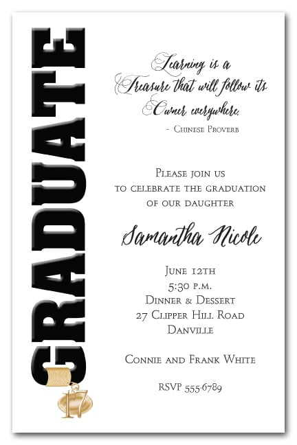 graduation party invitations who do you invite? when do you mail, Party invitations