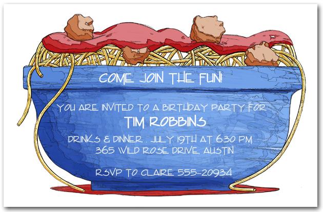 Italian Party Invitations Italian Food Invitations – Italian Themed Party Invitations