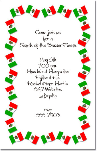 Fiesta Invitation Wording for amazing invitations layout