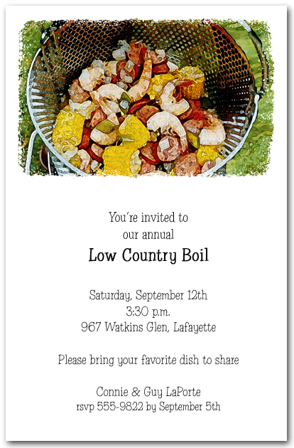 Low Country Boil Party
