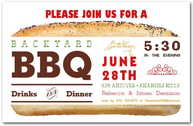 barbecue invitations, bbq invitations, barbecue party invitations, Party invitations