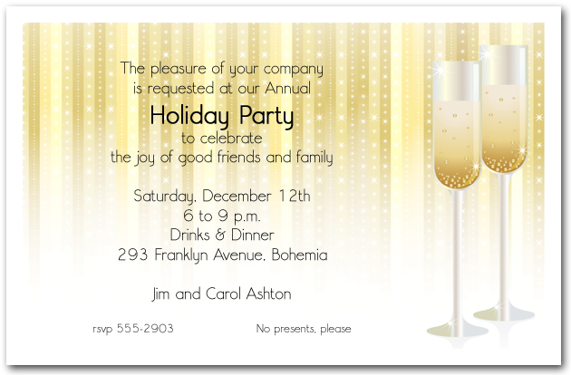 Holiday Cocktail Party Invitations | Christmas Cocktail Party