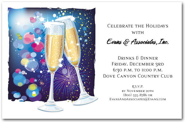 Champagne and Fireworks Invitations – Champagne Party Invitations