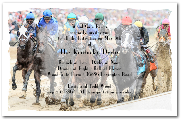 Crowd the Rail Kentucky Derby Party Invitations, Horse ...