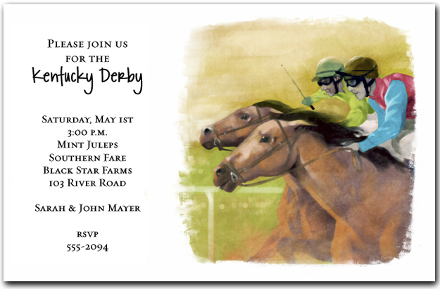 Down the Stretch Horse Racing Invitations Kentucky Derby Party – Horse Party Invitations