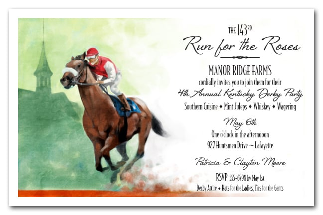 front runner kentucky derby party invitations, Party invitations