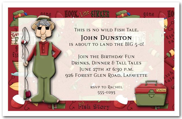 gone fishing mens birthday party invitations birthday invitations - Free Printable Retirement Party Invitations