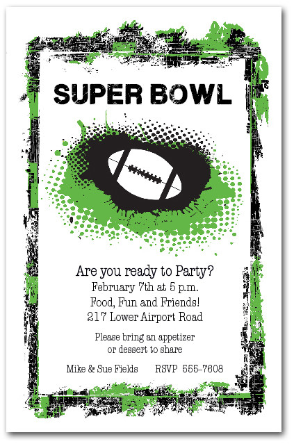 Super Bowl Party Invitations gangcraftnet – Super Bowl Party Invite