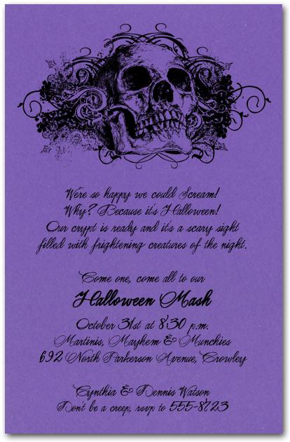 Halloween Wedding Invitation Wording Ideas Yaseen for