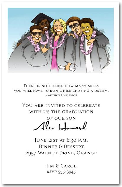 fun group graduation party invitation, graduation invitation, Party invitations