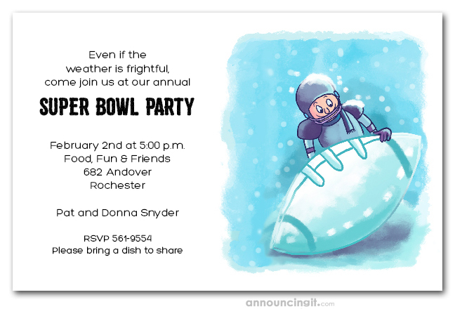 Ice Bowl Football Ice Football Super Bowl Party