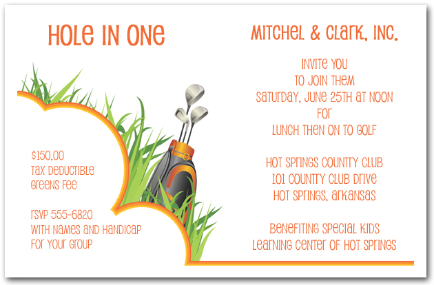 In the Rough Golf Invitations Golf Outing Invitations – Golf Themed Birthday Invitations