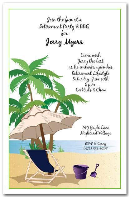 Kick Back Beach Invitation, Tropical Party Invitations