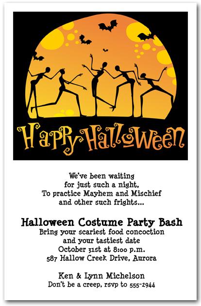 halloween costume party invitation wording  veerik, invitation samples