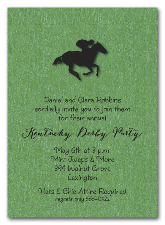 kentucky derby party invitations, horse racing invitations, Party invitations