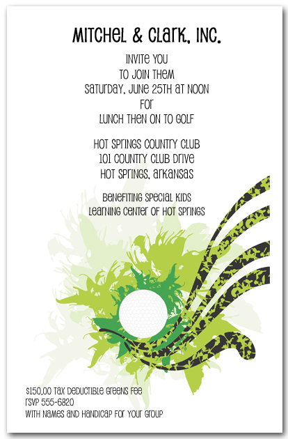 golf outing invitation template free inspirational kids golf