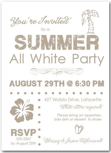 white party invite