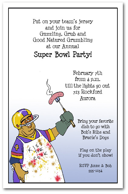 Super Bowl Chef Football Party Invitations – Super Bowl Party Invitations